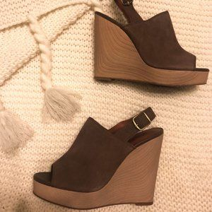 LUCKY BRAND Taupe Wedge Sandal Size 8